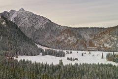 House in the Forest on Kasprowy Wierch in Zakopane in Tatras in Royalty Free Stock Photo