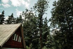 A house in forest royalty free stock photos