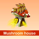 House in forest mushroom, fantasy phenomenon Stock Photos