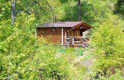 House of forester. Lonely house of forester in the middle of Siberian forest Stock Images