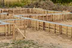 House foundation construction Stock Image
