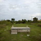 House foundation after Hurricane Katrina Stock Photography