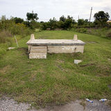 House foundation after Hurricane Katrina Royalty Free Stock Photography