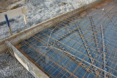 House foundation steel construction Stock Photo