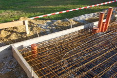 House foundation steel construction Stock Image