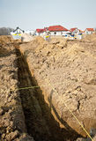 House foundation trench Stock Images