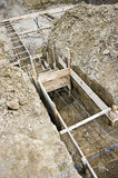 House foundations detail Royalty Free Stock Images