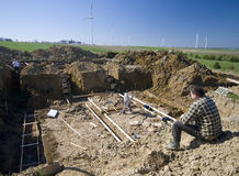 House foundations pit stock photos