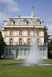 House with fountain in villa taranto Royalty Free Stock Photo