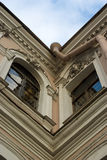 House fragment. Old Saint-Petersburg house fragment Royalty Free Stock Photo