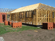 House frame. Building house frame royalty free stock image