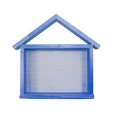 House frame. Blue House frame on isolated Stock Photos