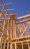 House frame. Detail of house frame under construction Royalty Free Stock Photo
