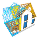 house frame design Royalty Free Stock Photography