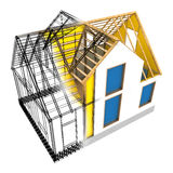 House frame design Stock Photos