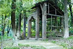 House frame in forest Stock Images
