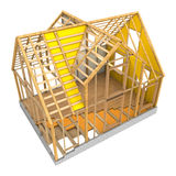 House frame and insulation Royalty Free Stock Images