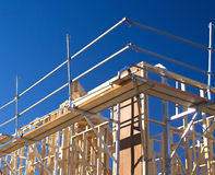 House frame with scaffolding Royalty Free Stock Photography