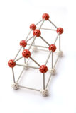 House framework. With red and white balls and sticks royalty free stock photos