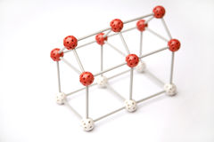 House framework. With red and white balls and sticks royalty free stock images