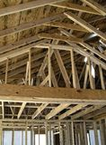 House framework. Framing a new house in the suburbs Stock Images