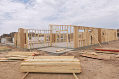 House framing. Stock Images