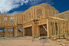 House framing. Royalty Free Stock Photos