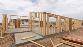 House framing. Stock Photos