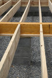 House framing - floor joists Royalty Free Stock Images