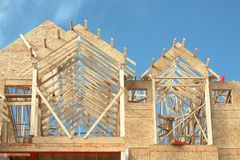 House Framing Lumber Home Royalty Free Stock Images