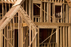 House framing phase of construction Stock Images