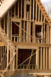 House framing phase of construction Stock Photography