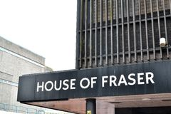 house of fraser entrance store sign Stock Photos