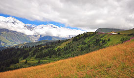 House in french Alps Royalty Free Stock Images