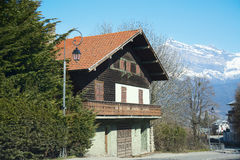 House in french Alps Stock Photo