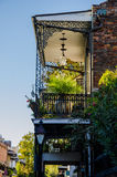 House in French Quarter - New Orleans. Balcony of old house in French Quarter of New Orleans Stock Image