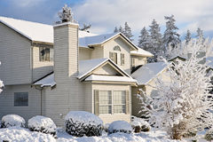 House with fresh snow Stock Photography