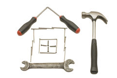 House From Building Tools Royalty Free Stock Photography