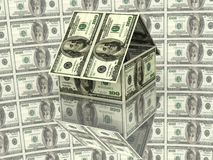 House From Hundred Dollars Stock Image