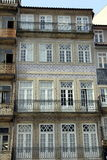 House Front adorned with Azulejos (Wall Tiles) Royalty Free Stock Images
