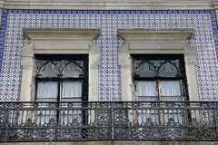 House Front adorned with Azulejos (Wall Tiles) Royalty Free Stock Photos