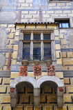 House Front in Cesky Krumlov Royalty Free Stock Photos