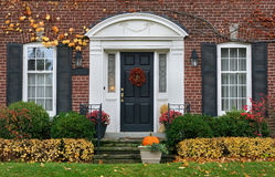 House front door in fall Stock Photography