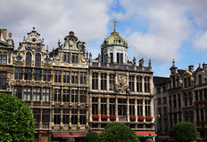 House Front at Grand Place in Brussels royalty free stock images