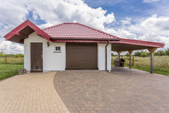 House front of a modern villa Royalty Free Stock Images