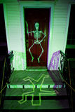 House Front Porch at Halloween Stock Image