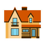 House front view vector illustration building architecture home construction estate residential property roof apartment. House front view vector illustration Royalty Free Stock Image