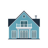 House front view vector illustration building architecture home construction estate residential property roof apartment. House front view vector illustration Royalty Free Stock Photography