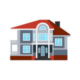 House front view vector illustration building architecture home construction estate residential property roof apartment Royalty Free Stock Photos