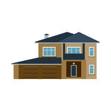 House front view vector illustration building architecture home construction estate residential property roof apartment Stock Photo